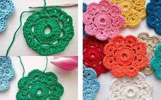 Вязаные цветы крючком — подробное описание схемы вязания с фото идеями