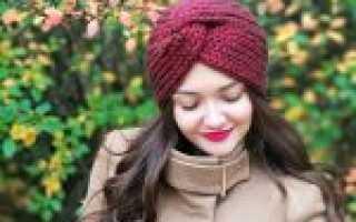 Вязаная чалма на голову спицами и крючком — подробное описание схем вязания для начинающих