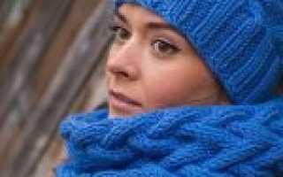 Как связать шарф хомут спицами и крючком — описание схемы вязания, фото идеи, советы