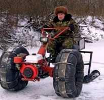 Самодельный трицикл с двигателем от мотоблока
