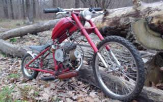 Велосипед из бензопилы своими руками